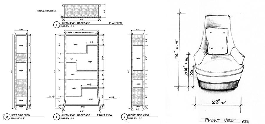 Design plans for custom made furniture