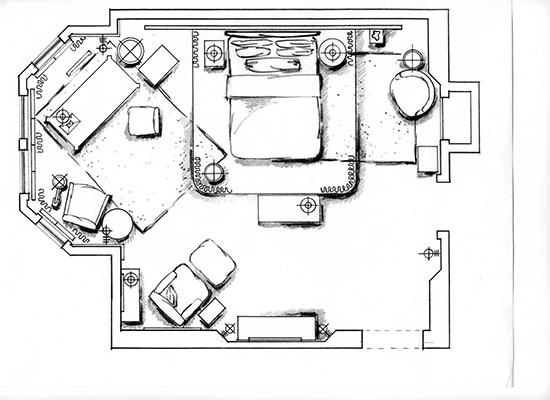 Creative floorplan layouts in NYC