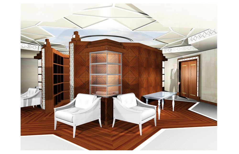 Waiting room design example for commercial client in NYC