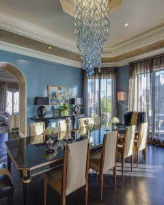 A Park Avenue Penthouse Dining Room