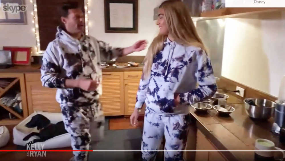 Ryan Seacrest making cookies at home with Shayna Taylor