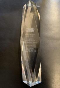 Trophy: 2019 Gina Quattrochi Arts and Legacy Award