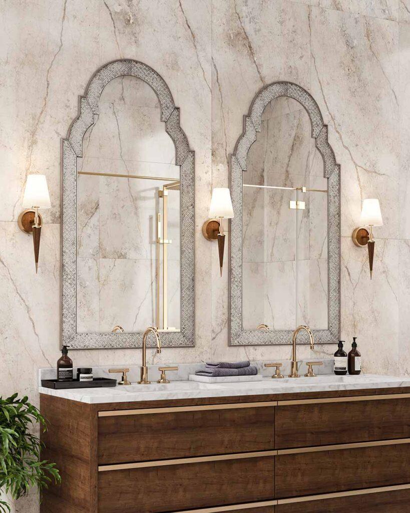 Kimpton Sconces in a Bathroom